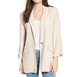 BP. Tan Cinch Sleeve Blazer